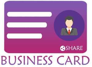 Share Business Card - Free Digital Business Card Logo
